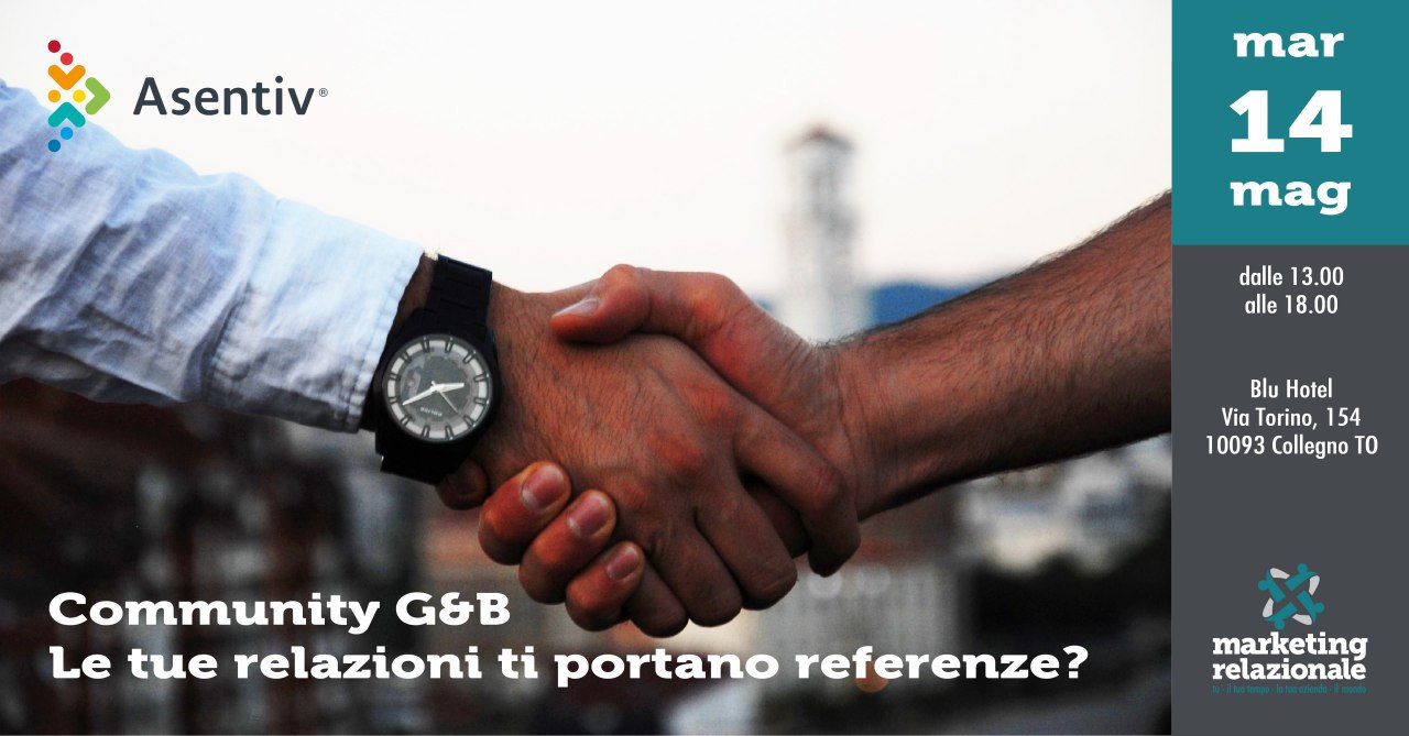 Le tue relazioni ti portano referenze - Community G&B