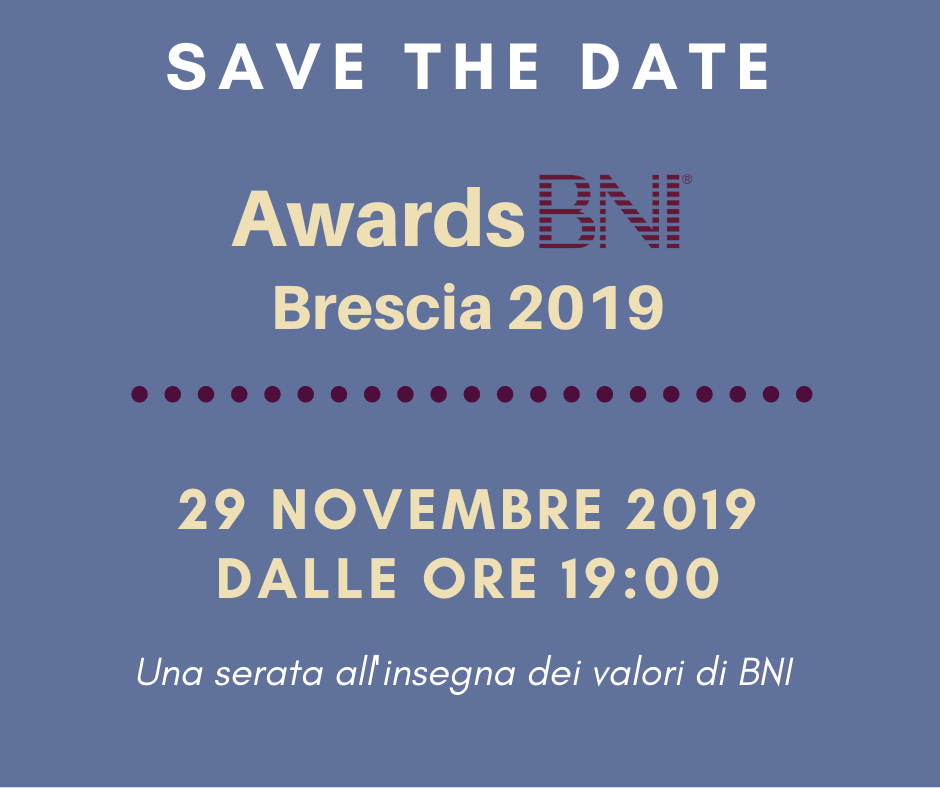 AWARDS BNI BRESCIA 2019