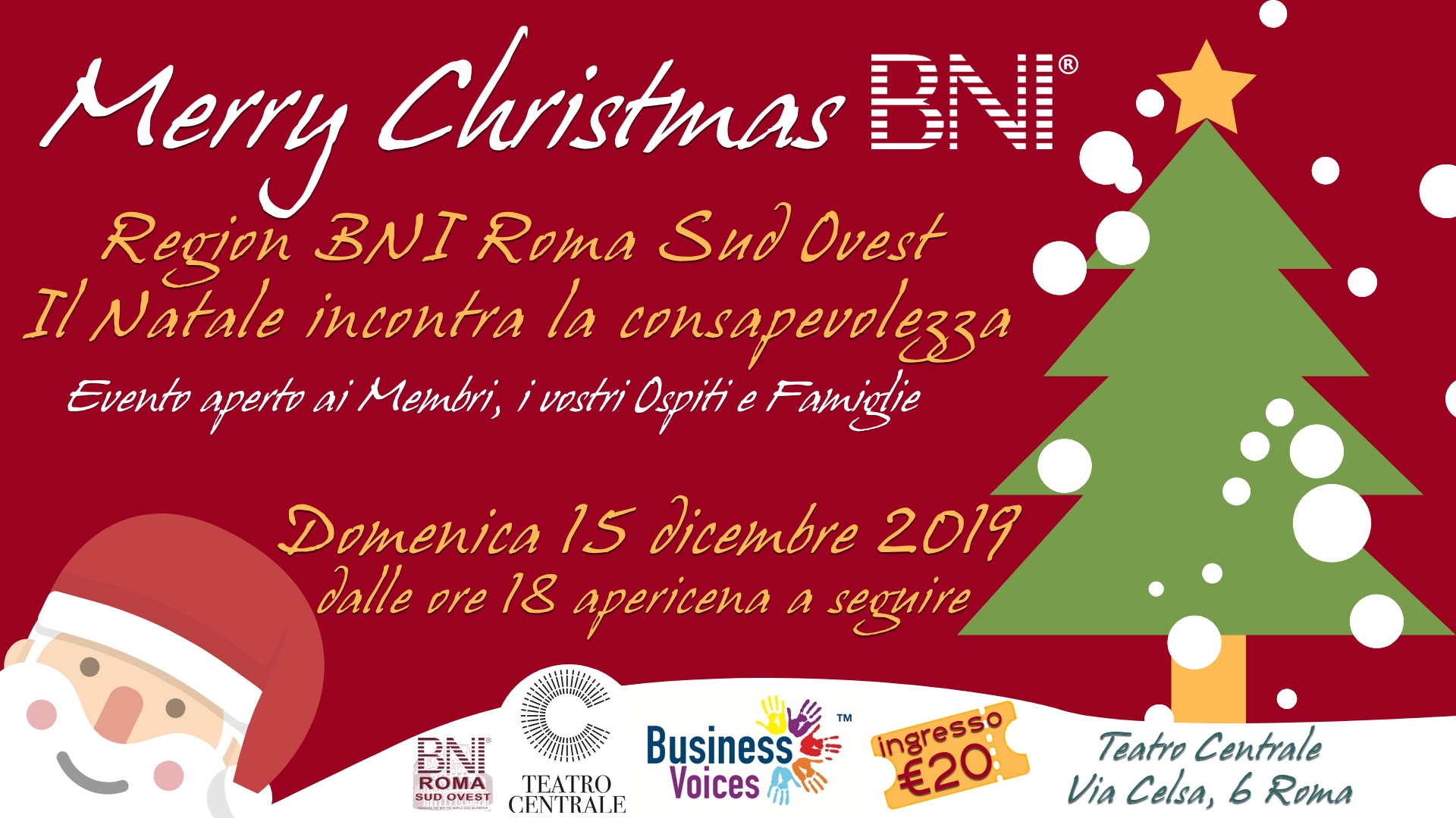 Merry Christmas BNI Roma Sud Ovest - DICEMBRE 2019