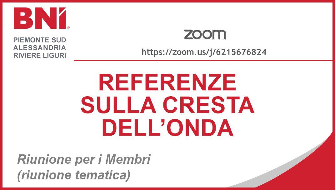 REFERENZE SULLA CRESTA DELLONDA