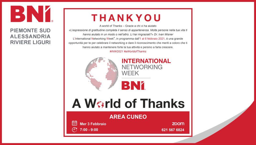 INTERNATIONAL NETWORK WEEK