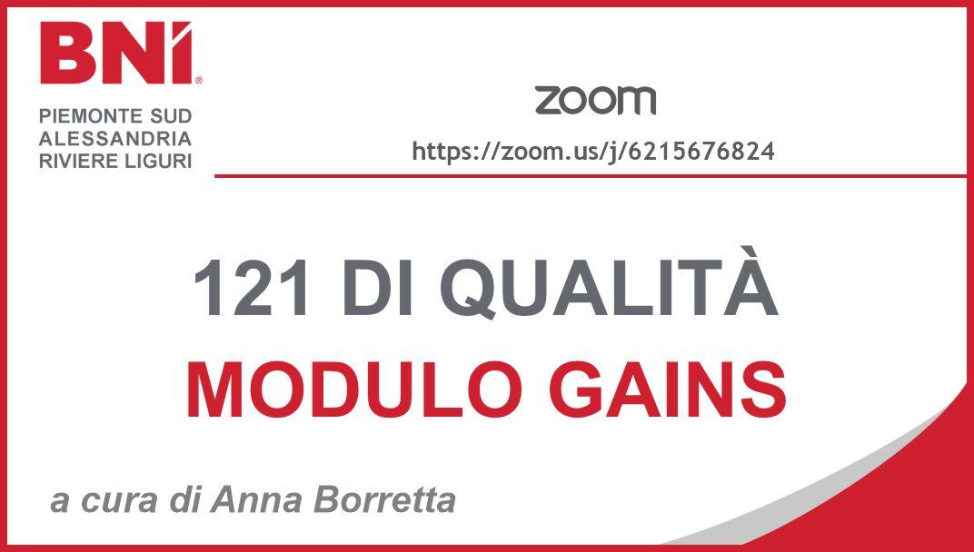 Corsi di FORMAZIONE per i 121 - GAINS
